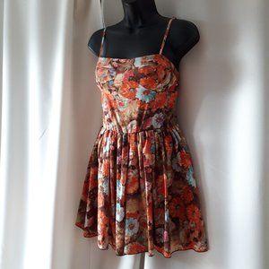 *2/$14* Floral Mini Dress Size XS